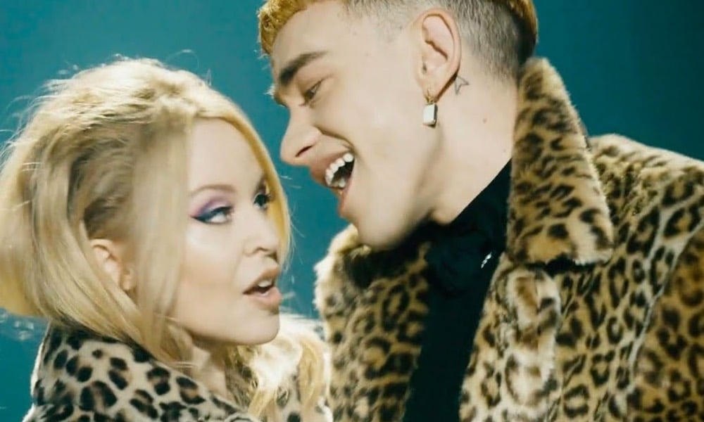 Kylie Minogue and Olly Alexander in the music video for A Second to Midnight