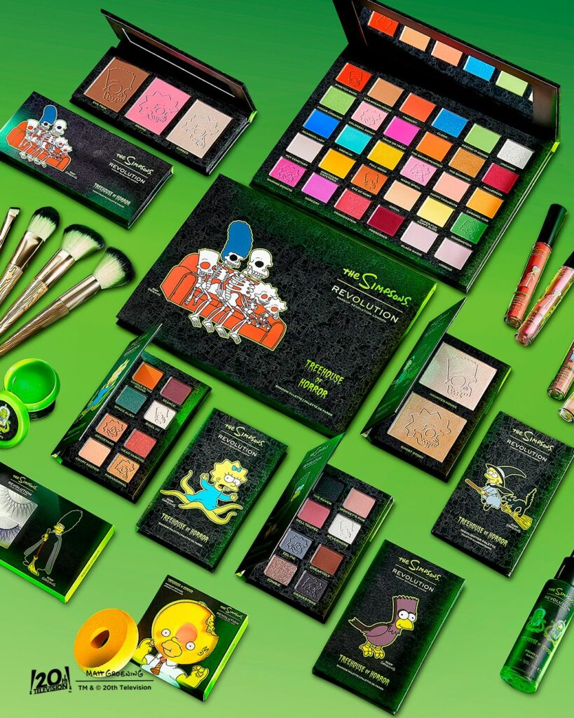 Revolution Beauty has released The Simpsons Treehouse of Horror Collection for Halloween.