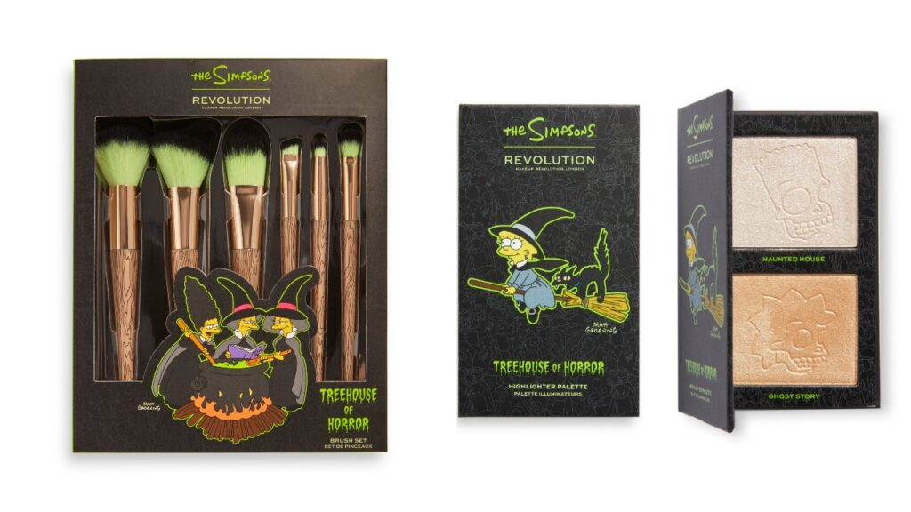 The collection pays homage to the classic Halloween episodes of The Simpsons. (Revolution Beauty)