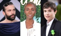 Jonathan Van Ness, Angelica Ross and Elliot Page
